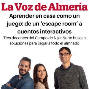 Prensa: Aprender en casa como un juego: de un «scape room» a cuentos interactivos