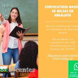 Convocatoria masiva de Bolsas en Andalucía
